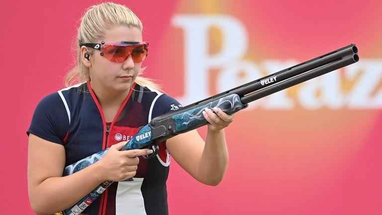 Amber Hill doveva competere nella competizione olimpica di skeet femminile
