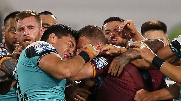 Andre Savelio and Josh Jones banned following punch-up after Huddersfield's win