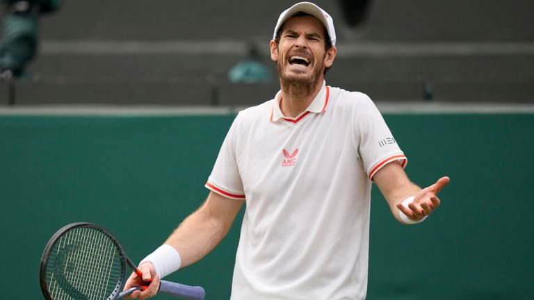 Andy Murray suffered a straight-sets defeat to Denis Shapovalov to end his Wimbledon return at the third round (AP)