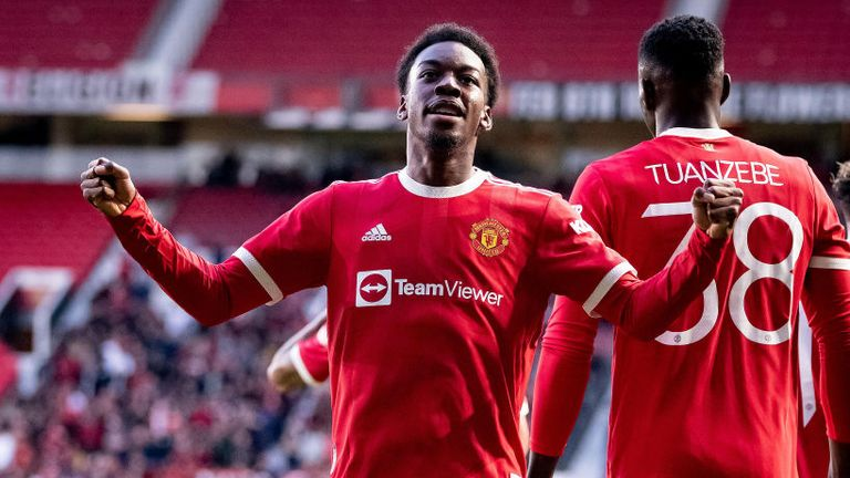 Anthony Elanga was on target for Manchester United against Brentford