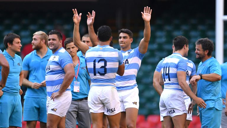 Argentina celebrate their victory