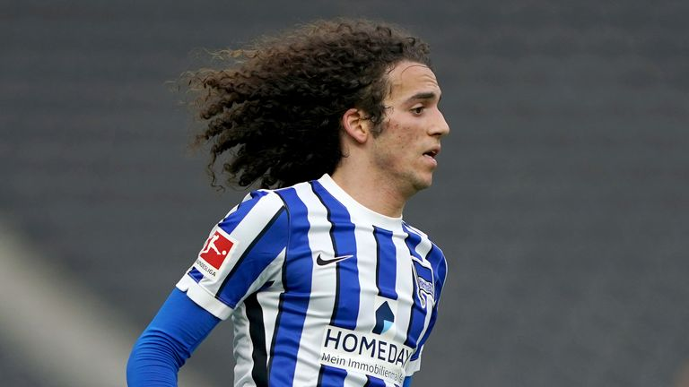 Matteo Guendouzi has joined Marseille on loan from Arsenal