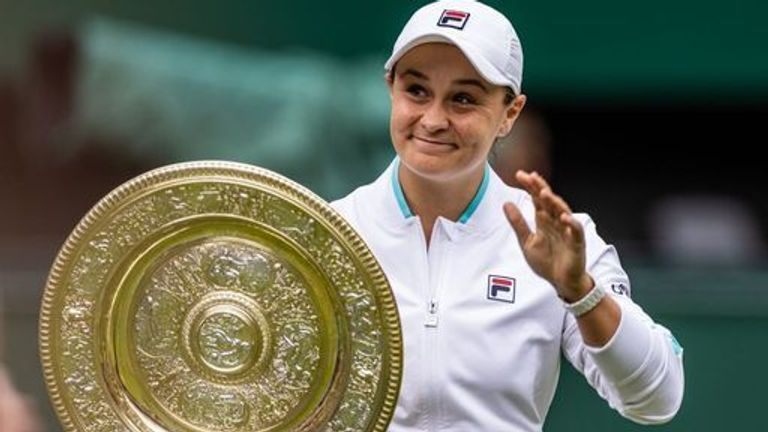 Ashleigh Barty is a two-time Grand Slam champion after winning the Wimbledon title on Centre Court