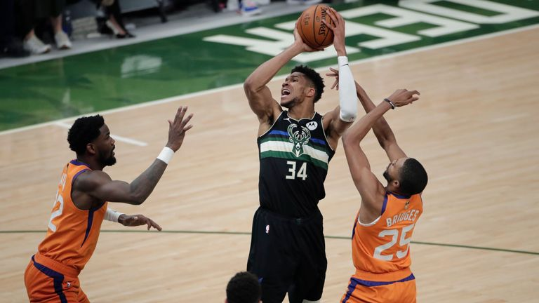 Highlights of Game 6 in the NBA Finals between the Phoenix Suns and the Milwaukee Bucks.