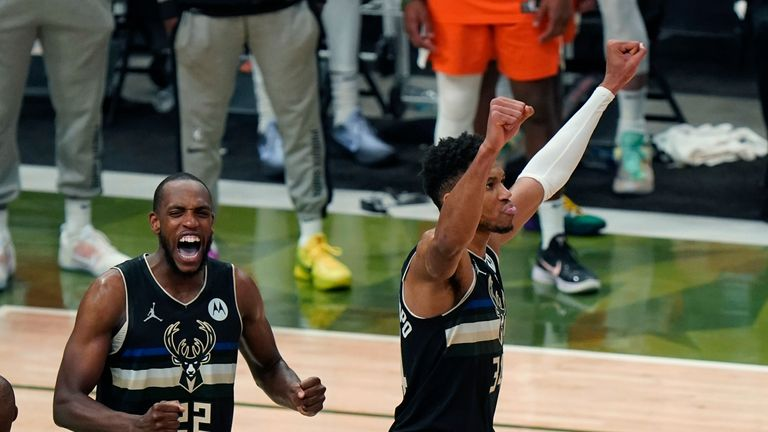 Khris Middleton hit the crucial field goal late on as the Milwaukee Bucks clinched their first NBA title since 1971.