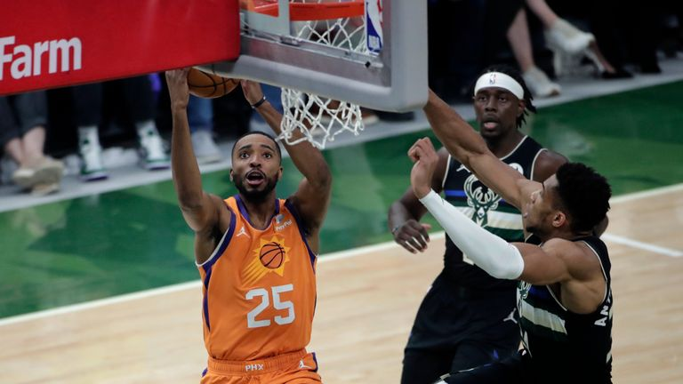 Check out the top five plays from Game 6 of the NBA Finals between the Phoenix Suns and the Milwaukee Bucks.