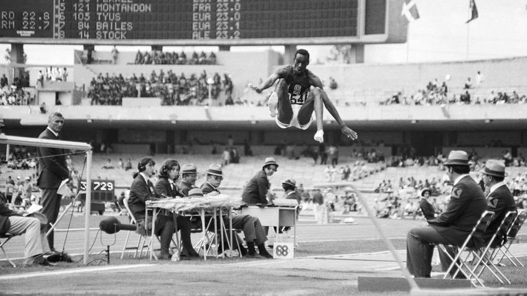 1968 Olympic long jump champion Bob Beamon speaks about the 'Leap of the Century' in Mexico City and how his friend Boston helped him