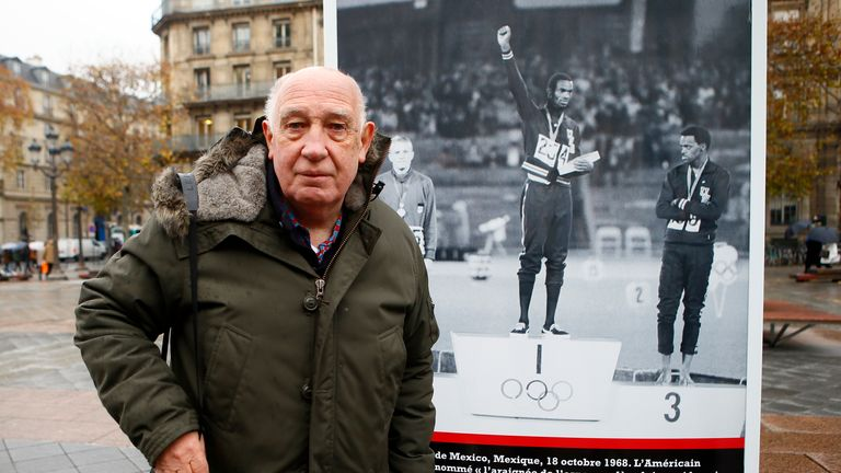 Beamon's protest with fist in the air was captured by French photographer Raymond Depardon who unveiled an exhibition of his Olympics photos in 2017