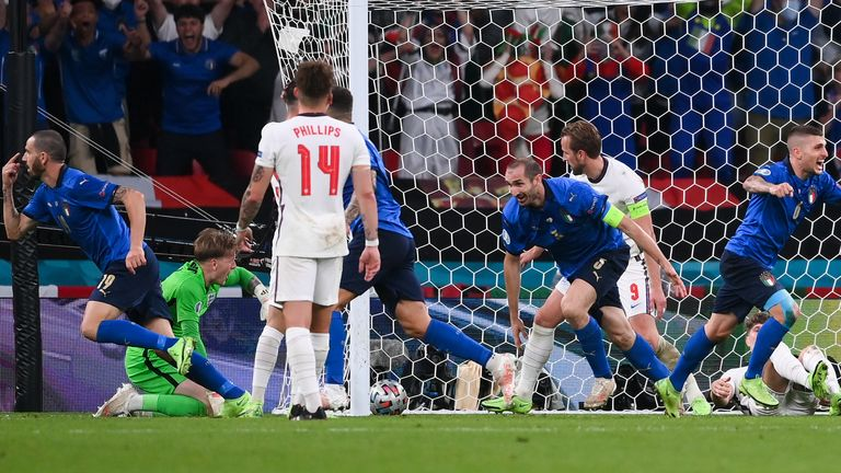 Bonucci scores equaliser for Italy in Euro 2020 final