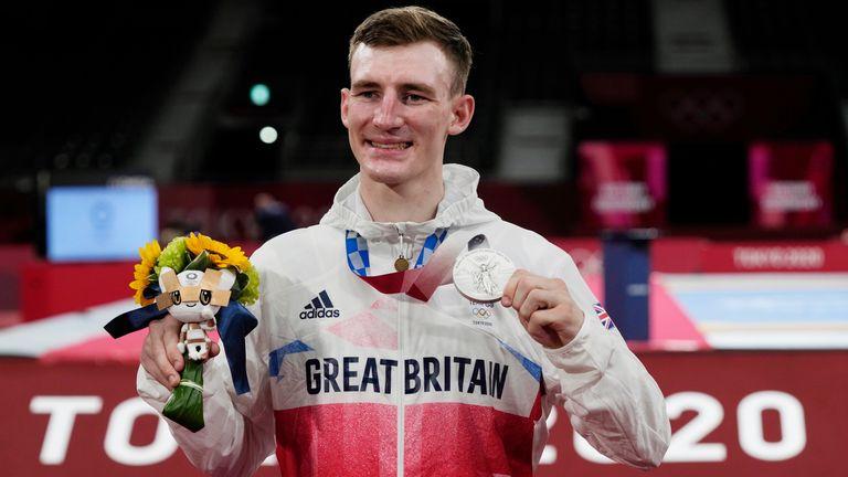 Bradly Sinden won a silver in the men's -68kg taekwondo at Tokyo 2020