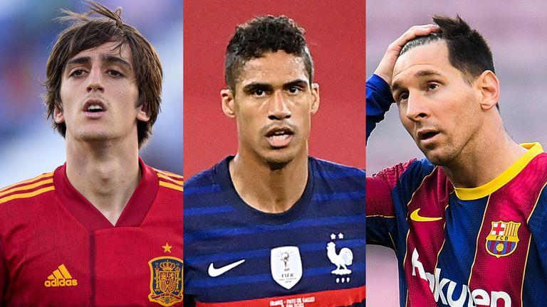 Bryan Gil, Raphael Varane Lionel Messi