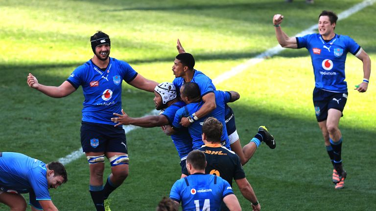 The Bulls celebrate beating South Africa 'A'