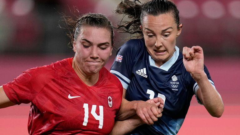 Caroline Weir was one of the players who was incorrectly named against Canada