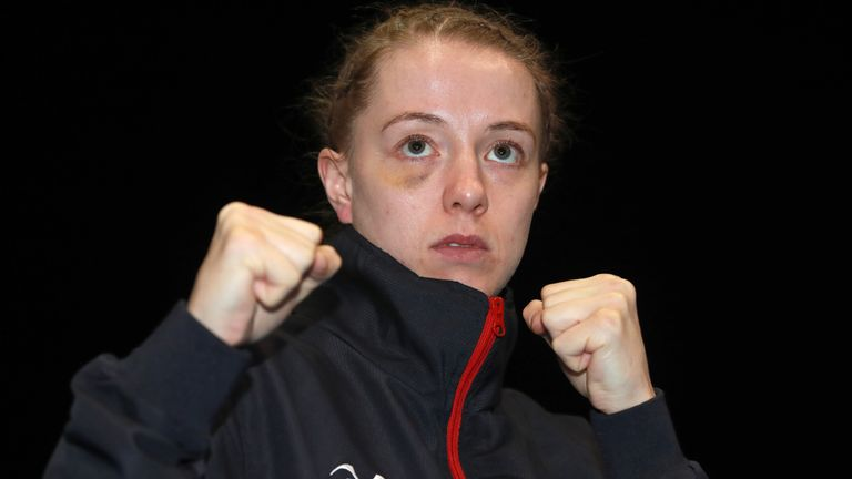 Great Britain's Charley Davison during the media day at the Copper Box Arena, London. PA Photo. Picture date: Thursday March 12, 2020. Photo credit should read: Adam Davy/PA Wire
