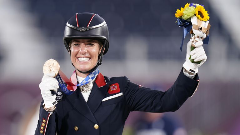 Charlotte Dujardin's bronze in individual dressage was her sixth Olympic medal, making her Team GB's most decorated female Olympian