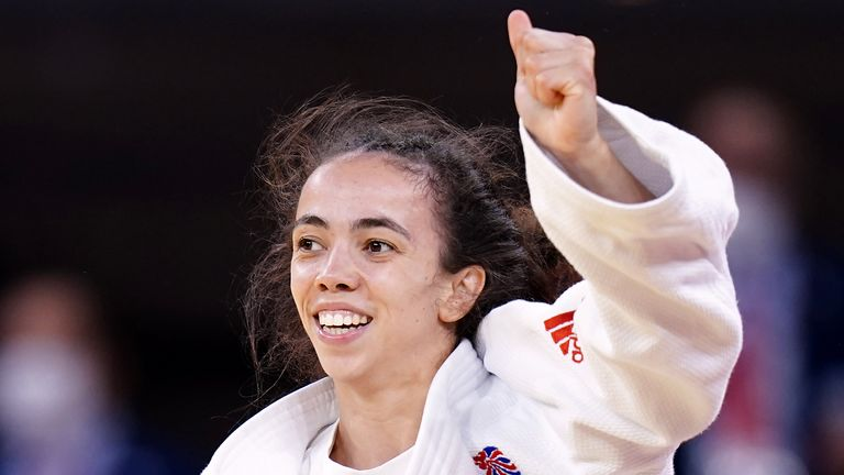Chelsie Giles wins Team GB's first medal of the Olympics with a bronze in the judo