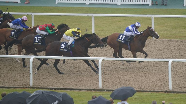 Chil Chil takes the Group Three Chipchase Stakes at Newcastle