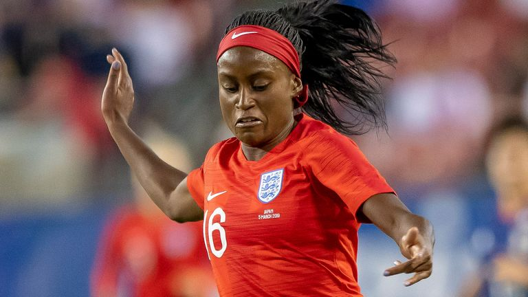 Chioma Ubogagu played for England in the She Believes Cup in 2019
