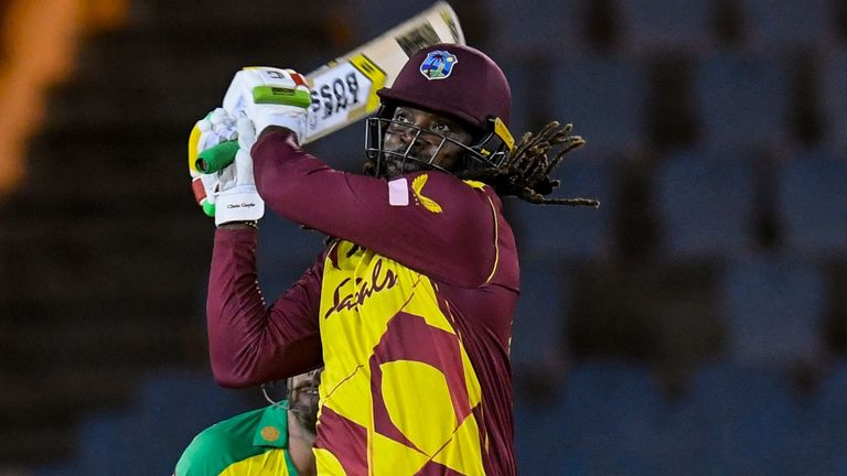 Chris Gayle scored 67 from 38 balls and became the first man to reach 14,000 runs in T20 cricket