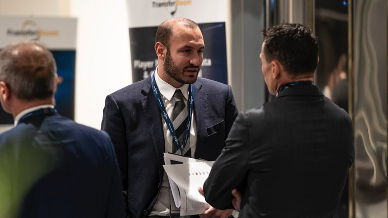 Claudio Chiellini, brother of Giorgio and now sporting director of Pisa, attends a TransferRoom event in his former role as loans manager at Juventus