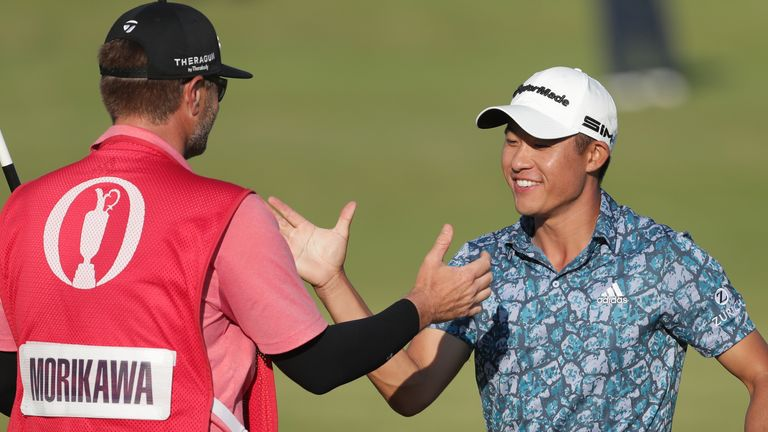 Collin Morikawa carded a final-round 66 to claim a two-shot win over Jordan Spieth at Royal St George's