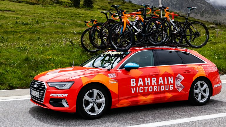 Tour de France team Bahrain Victorious have had their hotel searched