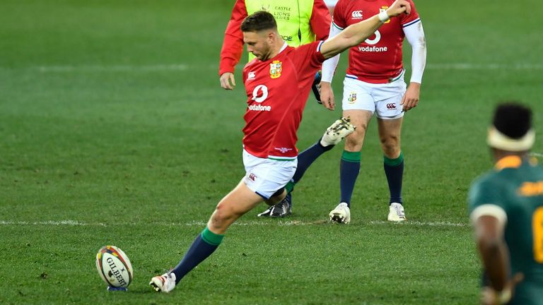 Dan Biggar kicked the Lions' opening points off the tee, but missed his second effort