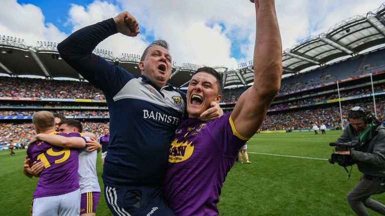 Fitzgerald celebrates the 2019 Leinster final win over Kilkenny