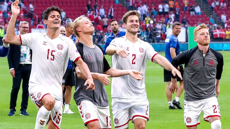 Denmark reached the semi finals after victory against the Czech Republic
