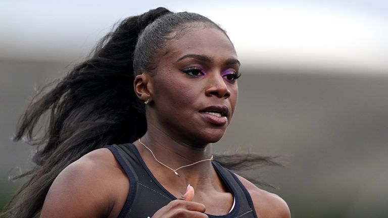 PA - Dina Asher-Smith in action