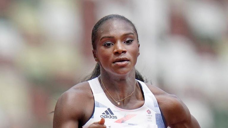 Dina Asher-Smith is out of the Tokyo Olympics due to a hamstring injury