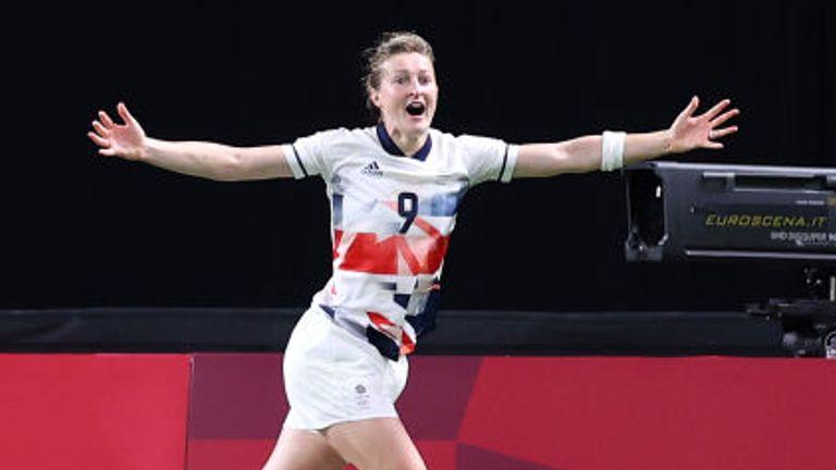 Ellen White was on target again for Team GB