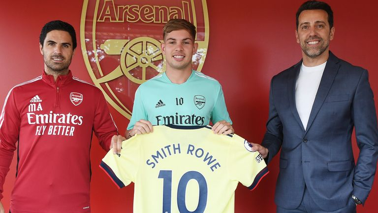 Emile Smith Rowe has been given the No 10 shirt by Arsenal for the new season