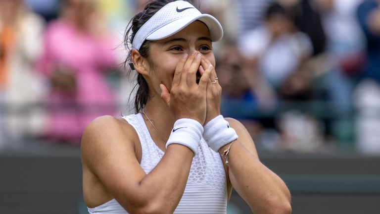 Emma Raducanu will face Ajla Tomljanovic, ranked 75th in the world, for a spot in the quarterfinals of Wimbledon