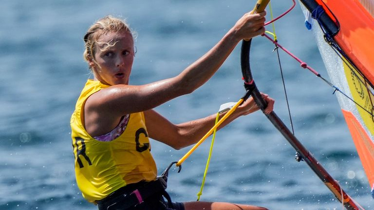 Great Britain's Emma Wilson is youngest sailor in the GB squad and daughter of a two-time Olympic windsurfer