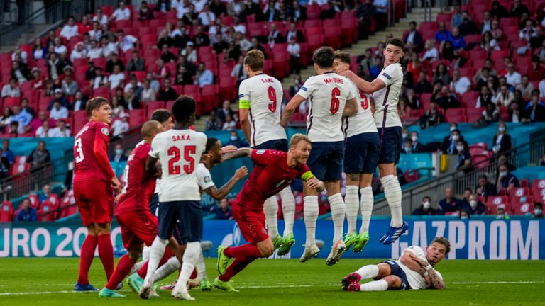 The England wall is breached by Damsgaard