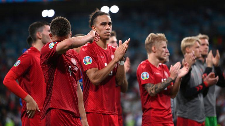 Denmark were beaten in controversial circumstances