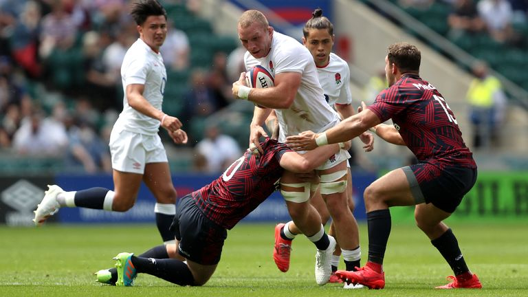 Sam Underhill got England up and running with their first try of the afternoon