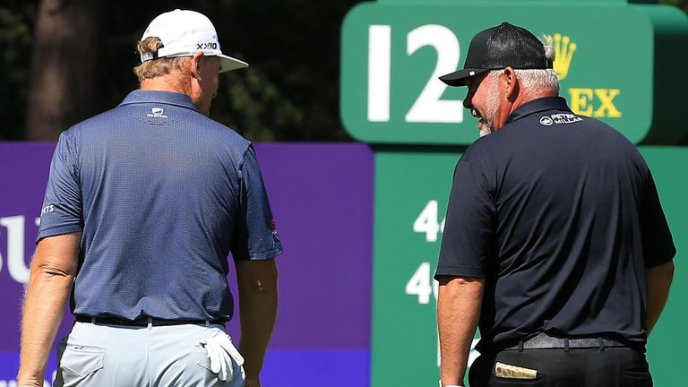 Ernie Els played alongside Darren Clarke over the first two rounds