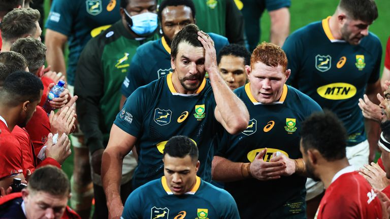 The Springboks pushed out to 12-3 and 17-10 leads in the first Test, but fell to a 22-17 loss