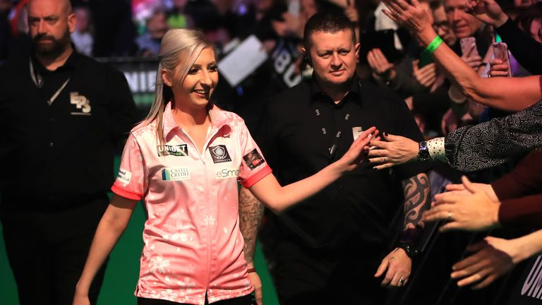Fallon Sherrock is hoping to make a return to the PDC World Championship via the new expanded Women's Series (PA)