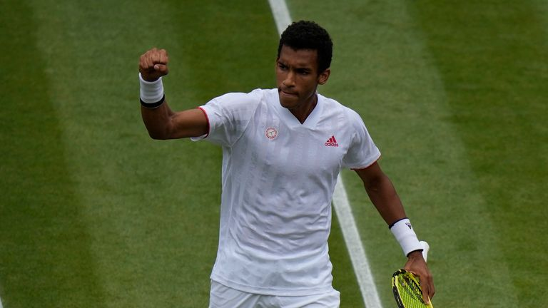 Felix Auger-Aliassime is into his first Grand Slam quarter-finals
