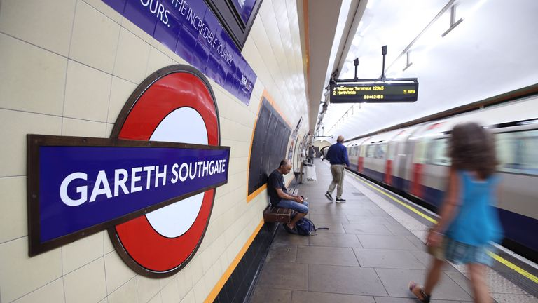Southgate Tube station in north London was temporarily renamed 'Gareth Southgate' after the 2018 World Cup
