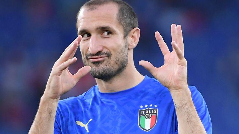 Italy defender Giorgio Chiellini (AP)