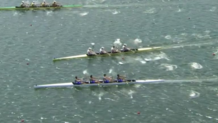 Team GB's men's four almost ram Italy in the final in Tokyo after steering issues
