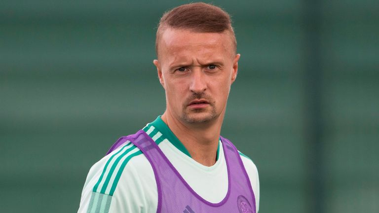 NEWPORT, WALES - JULY 06: Leigh Griffiths during a Celtic training session at Dragons Park on July 06 2021, in Newport, Wales. (Photo by Craig Foy / SNS Group)