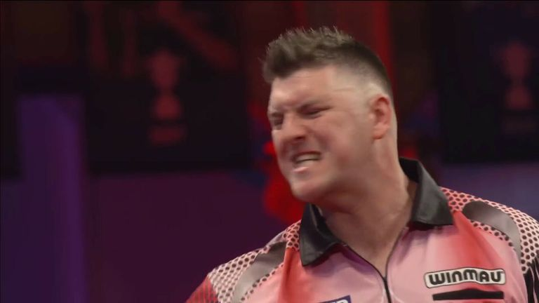 Daryl Gurney hits four century checkouts in his loss to Ian White at the World Matchplay
