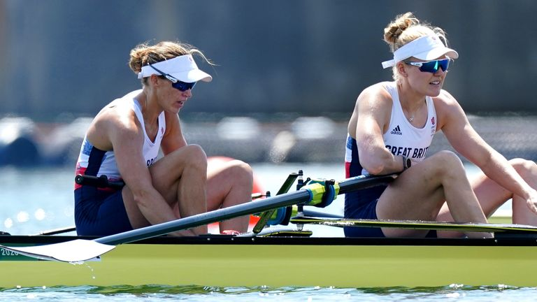 Helen Glover and Polly Swann narrowly missed out on a bronze medal in the women's pair final