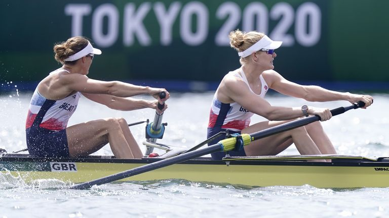 Helen Glover and Polly Swann finished fourth on Thursday in Tokyo