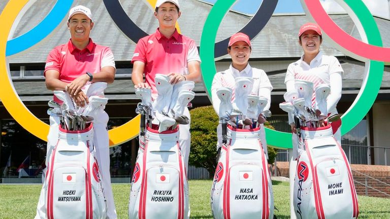 Matsuyama and Rikuya Hoshino are representing Japan in the men's event, while Nasa Hataoka and Mone Inami will compete in the women's competition